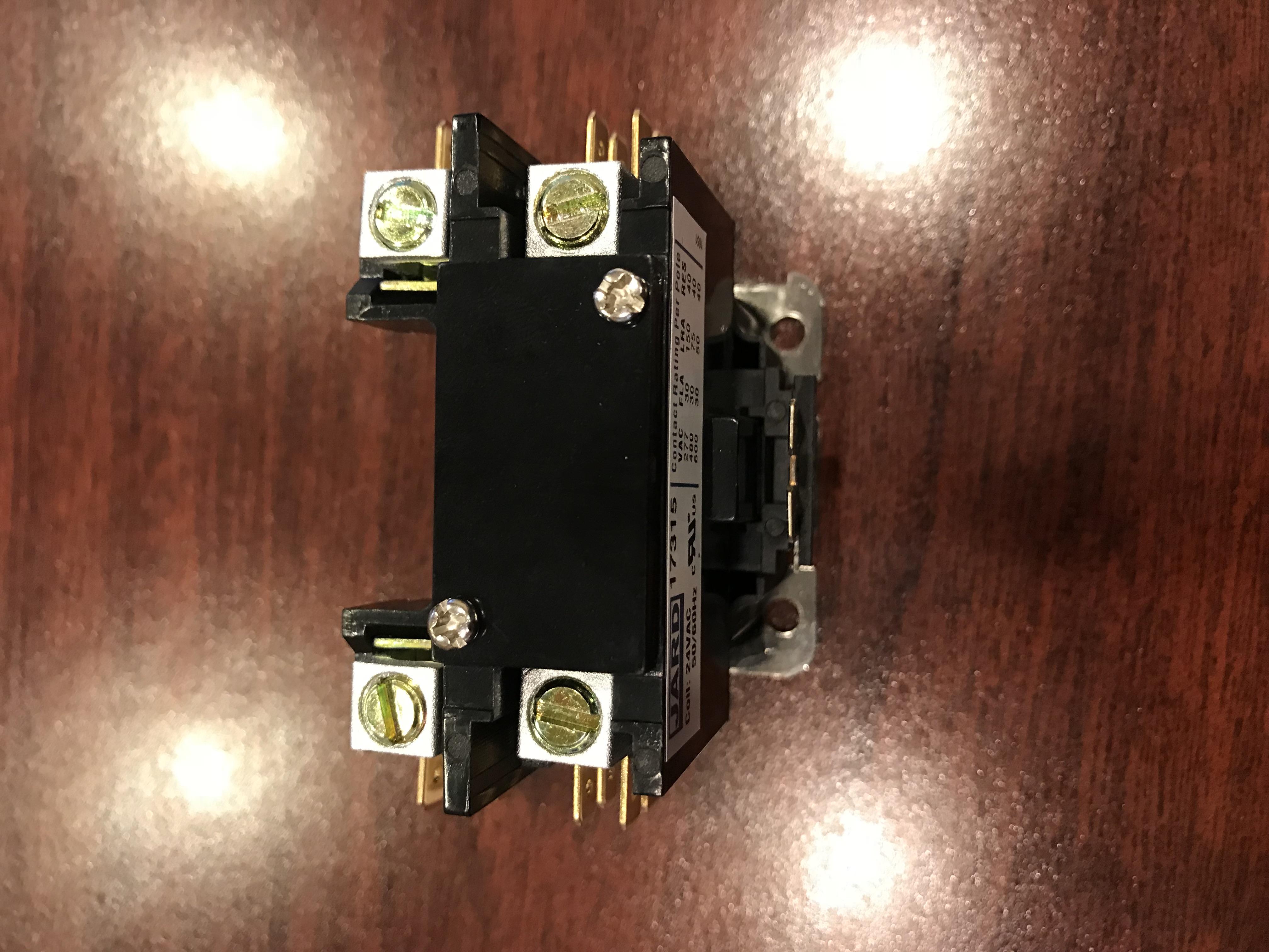 Contactor 1 Pole 30 Amp 24 Volts Vac