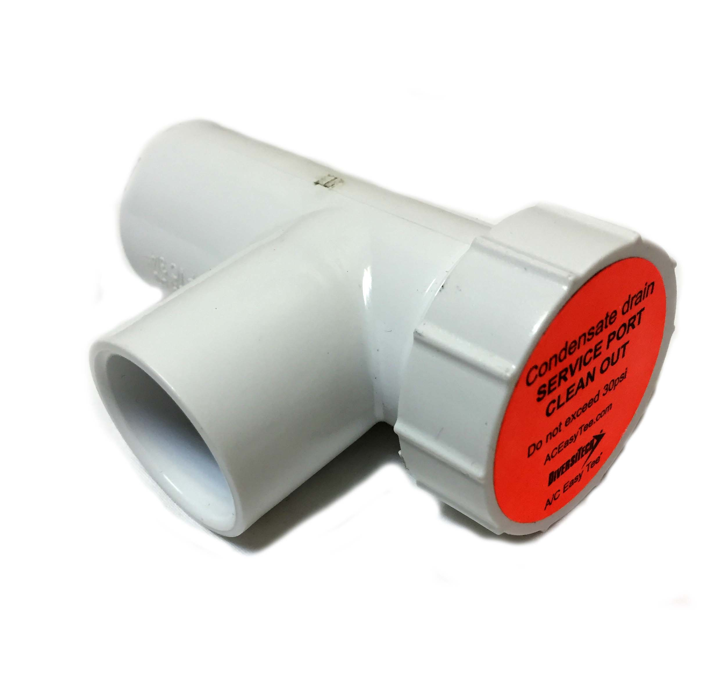 A c drain line easy tee service kit pvc fitting
