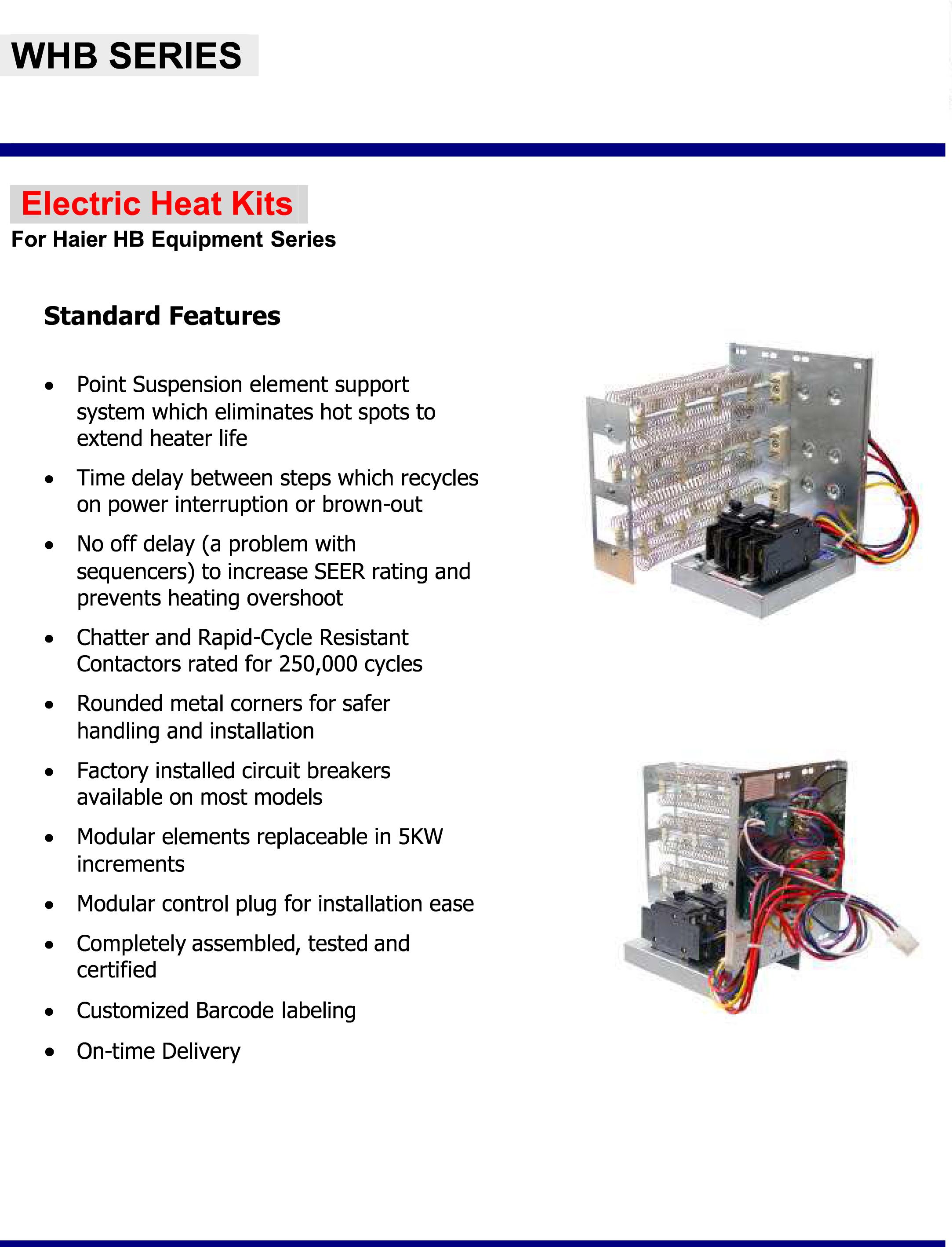 15 Kw Breakered Heat Strip For Haier Air Handlers Hb 2400
