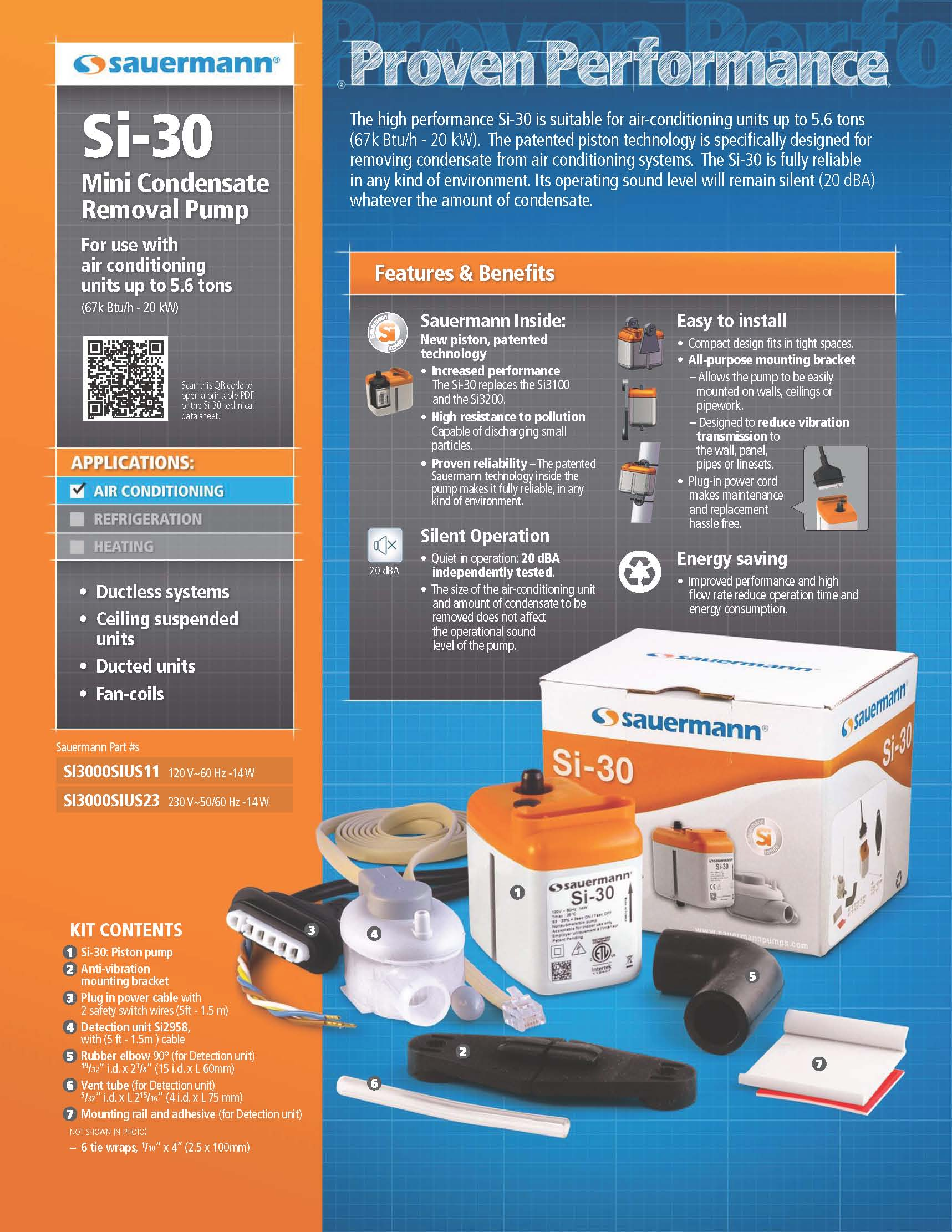 mini split condensate removal 230 volt