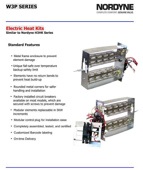 15 kw breakered heat strip for nordyne package units p3r ... q3rd 030k nordyne heat pump wiring diagram amana heat pump wiring diagram