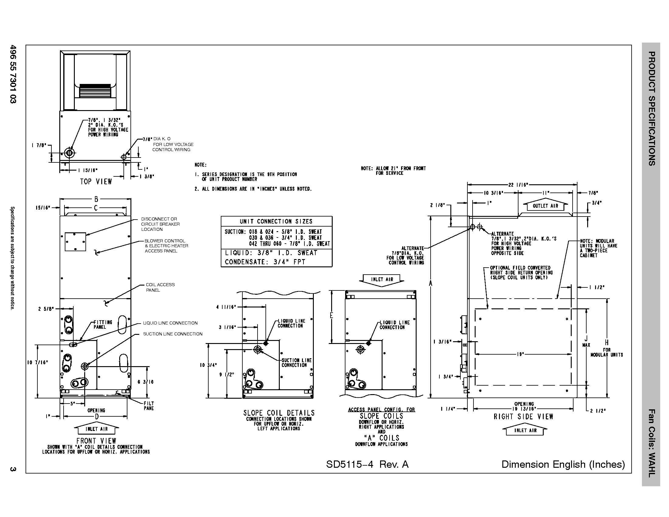 Grandaire 3 Ton Ecm Motor Air Handler Wahl364b