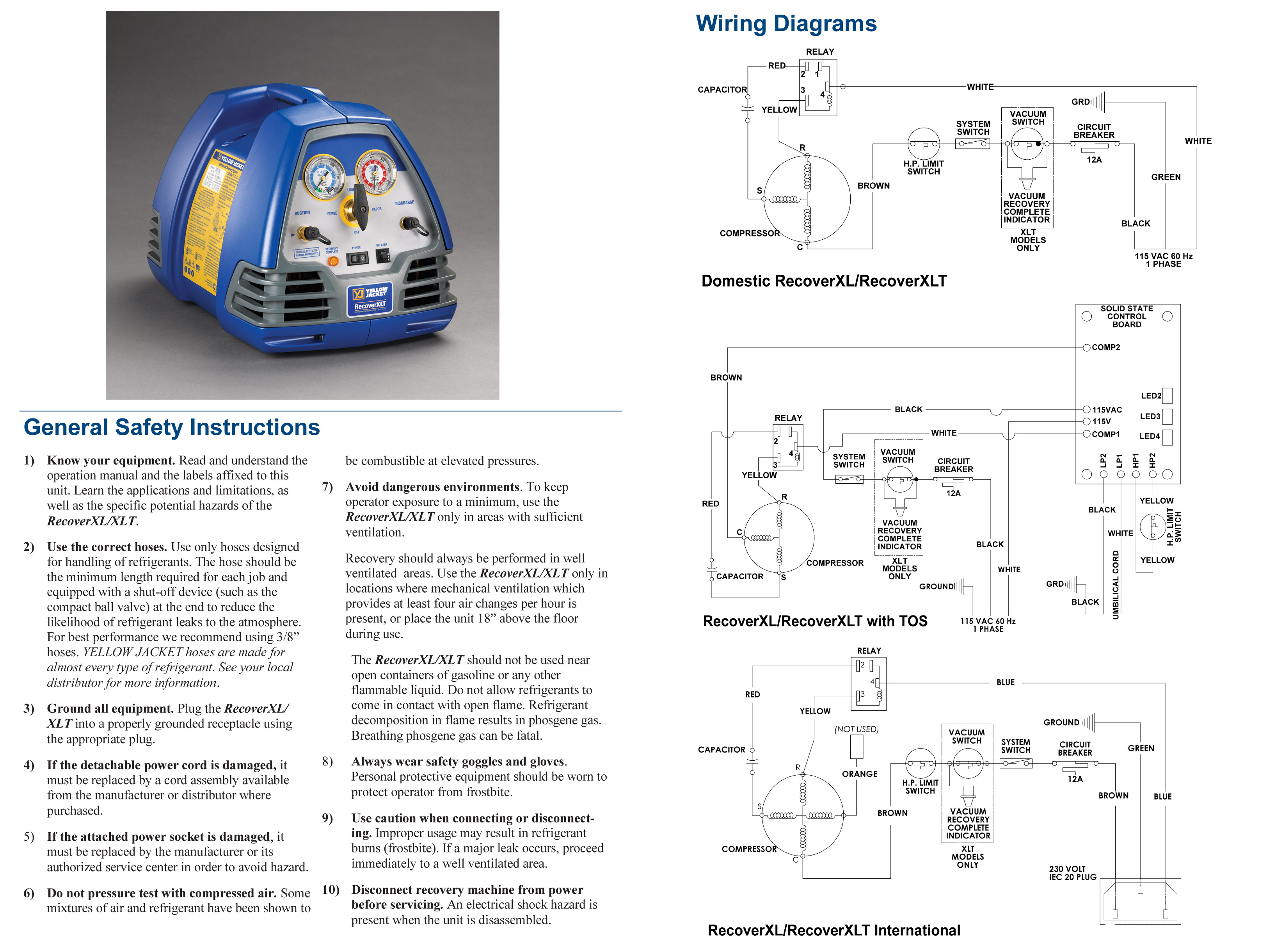 refrigerant recovery system  yellow jacket  95760 hvac wiring diagrams worksheets hvac wiring diagrams worksheets hvac wiring diagrams worksheets hvac wiring diagrams worksheets