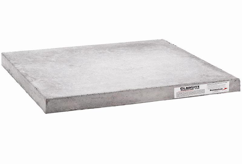 38x72 cladlite concrete hurricane condenser landscaping for Outdoor ac unit pad
