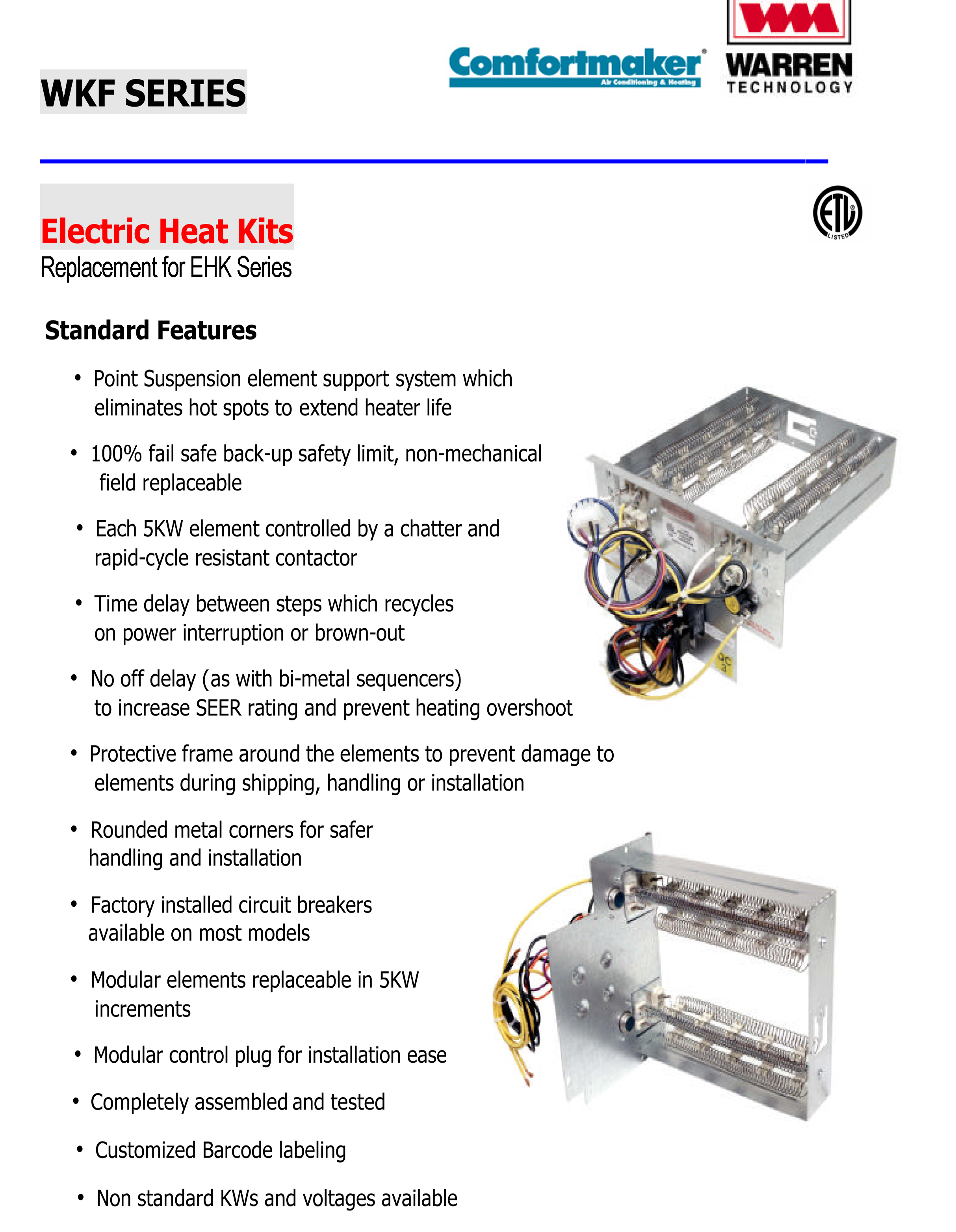 10 kw heat strip for comfortmaker air handlers eb(p/x/v), wa, fe, fs, fv, fx wkf1002 comfortmaker air handler wiring diagram
