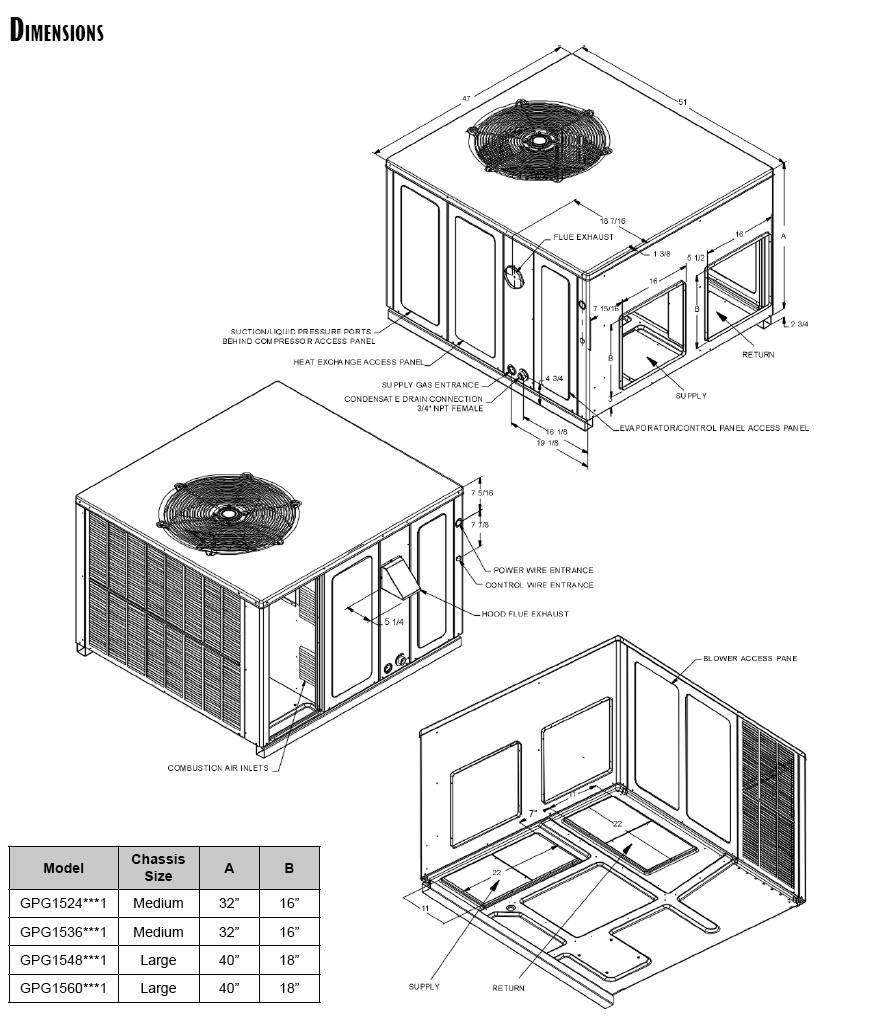 3 Ton Goodman Package Unit Heat Pump Thermostat Wiring