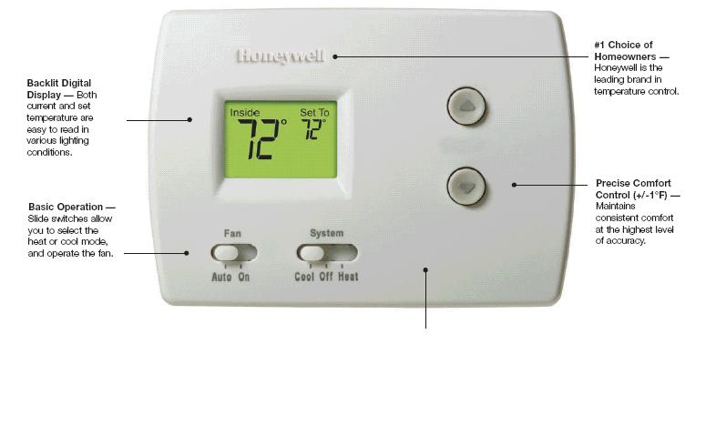 Thermostat Honeywell Heat Pump Pro 3000 Th3210d1004 Not