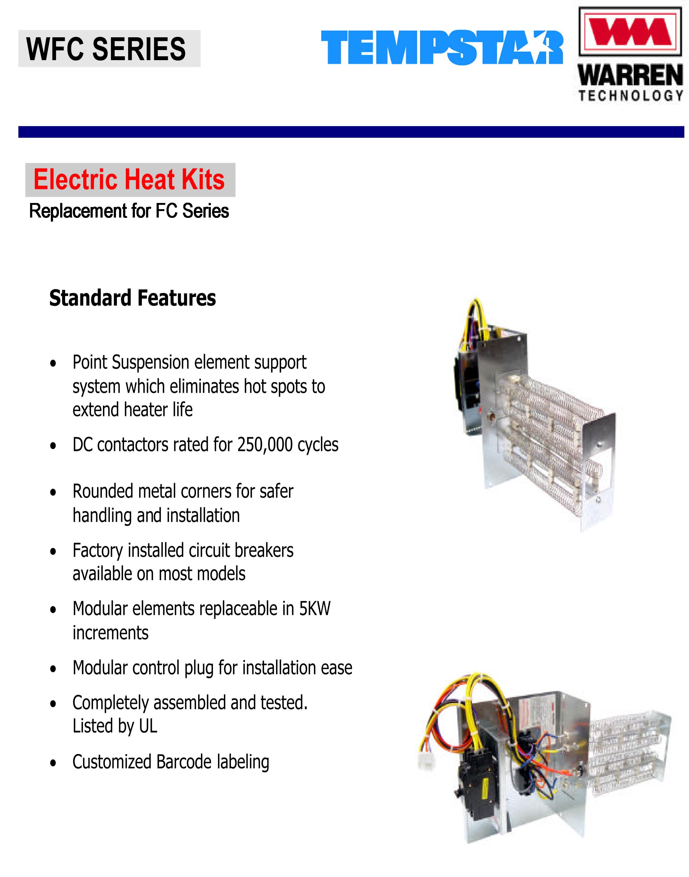 5 Kw Heat Strip For Tempstar Air Handlers Fcv Fcp Fcx
