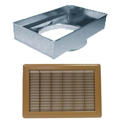 Mobile Home Or Floor Return Air Filter Box And Grill Brown