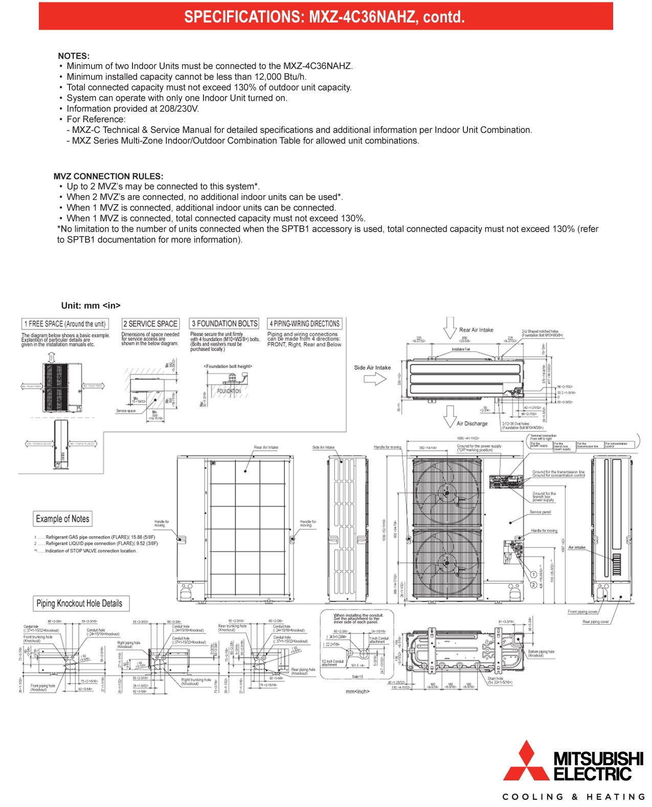Mini Split Multi 4 Zone Mitsubishi H2i Hyper Heat Up To 191 Seer Intertherm Electric Furnace Wiring Diagram Share The Knownledge How Wire Mxz C Branch Box