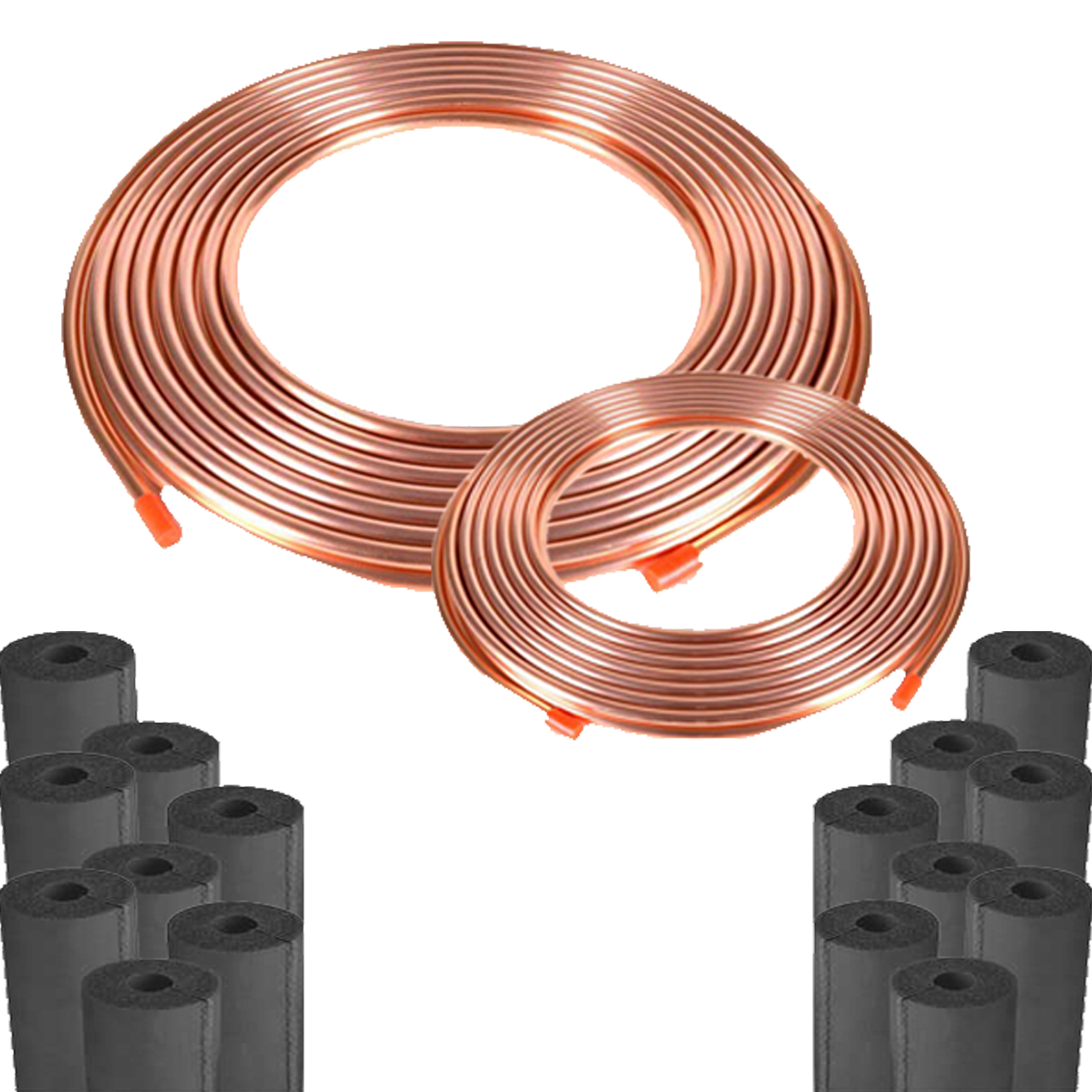 Copper Line Set 100 Feet 3 4 8 Bard Condenser Fan Wiring Diagram Soft Rolled With Thickness Rubbertex Insulation Black This Is Not Pre Charged And Ideal For Freon Lines Between Air