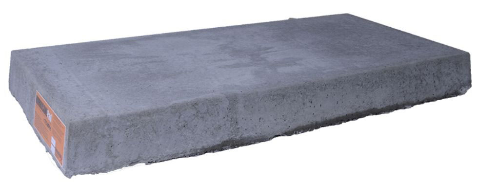 18x40 cladlite concrete hurricane mini split condenser for Air conditioner pad concrete