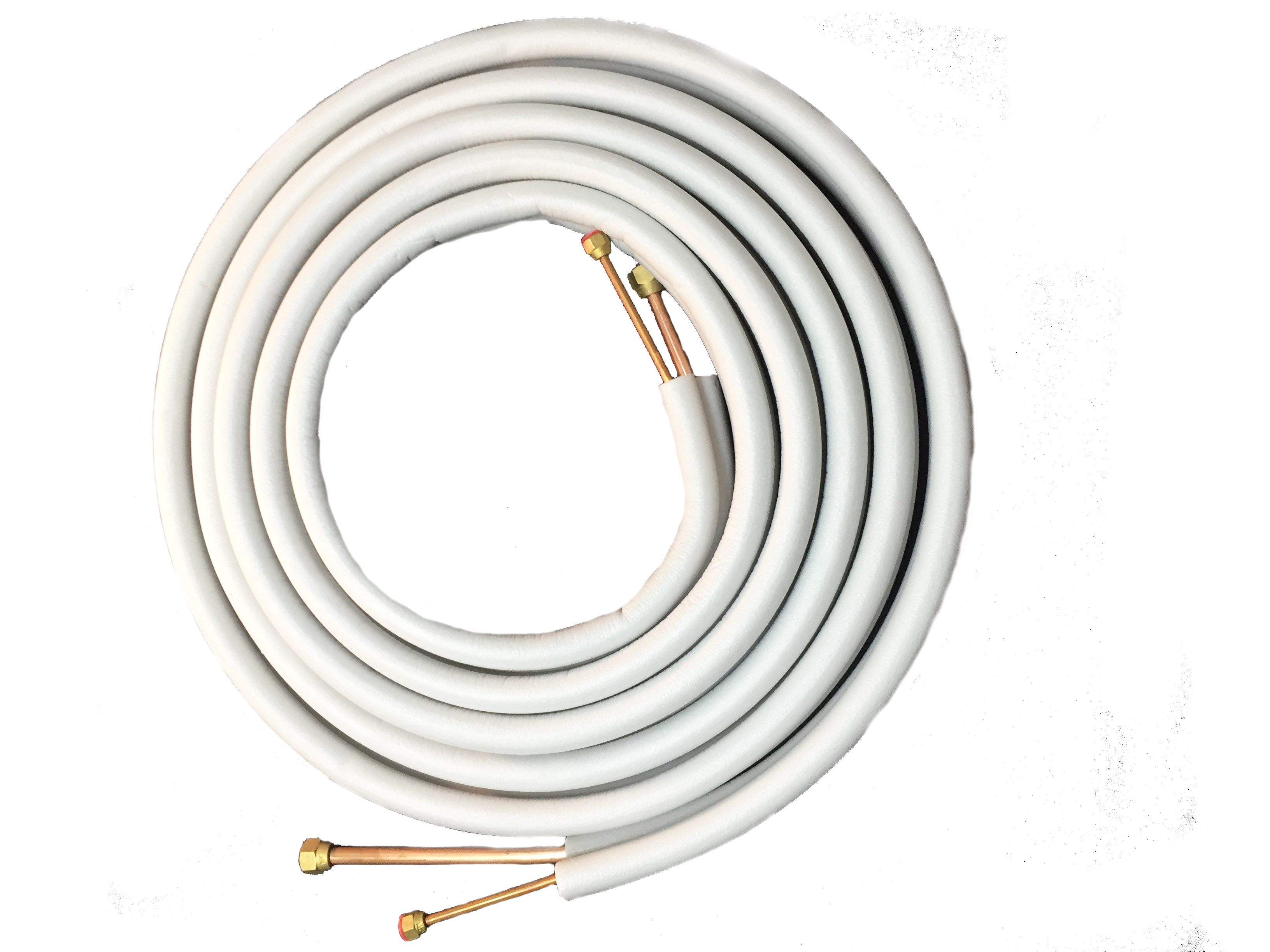3 8 X 5 Mini Split Copper Installation 9pc Kit 25 Haier Air Conditioner Wiring Diagram Insulated Lines W Screw On Compression Nuts 16 4 Wire Neoprene Putty To Fill In Seal Up Wall Openings