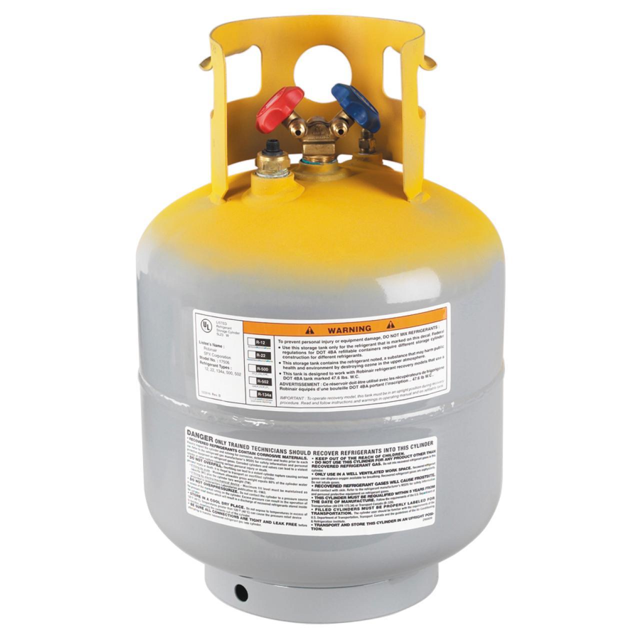 Refrigerant Recovery Cylinder 50lb CFC, HCFC, HFC Refrigerants