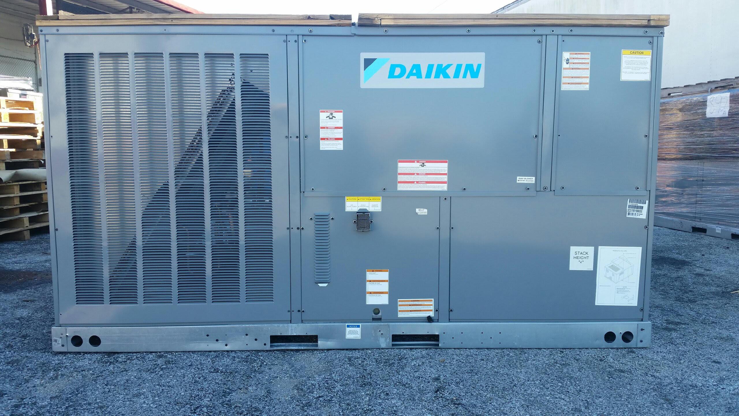10 ton Daikin Gas Package Unit 210K BTU 208/230V or 460V 3 Phase ...