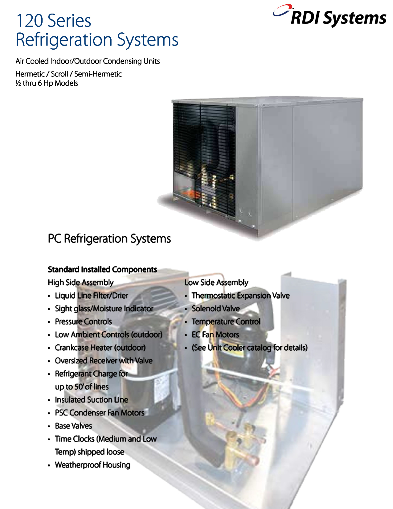 rdi refrigeration unit wiring diagrams rdi systems 120 series refrigeration system air cooled 3 4hp 208  refrigeration system air cooled