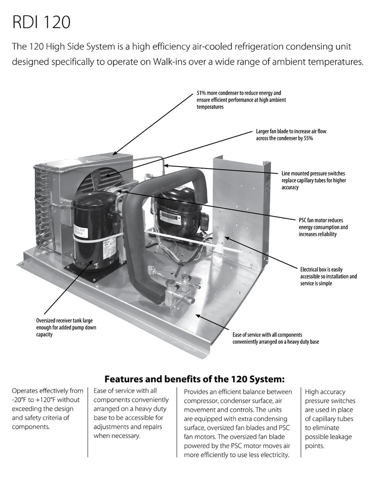 rdi systems 120 series refrigeration system air cooled 3 4hp 208 230 rh budgetheating com