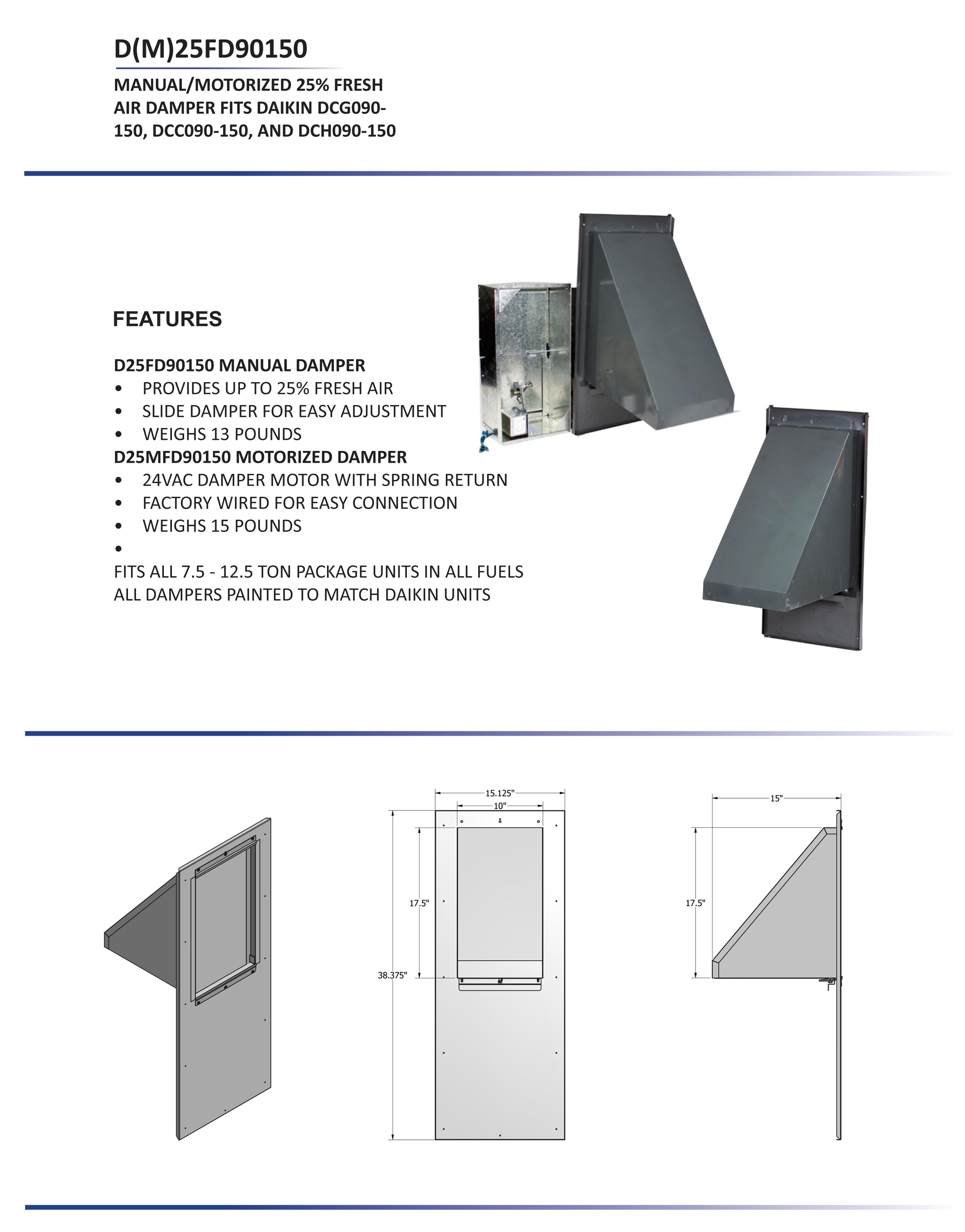 7 5 12 5 ton daikin 25 manual fresh air damper dcc dcg dch rh budgetheating com Residential Electrical Wiring Diagrams Window Air Conditioner Wiring Diagram