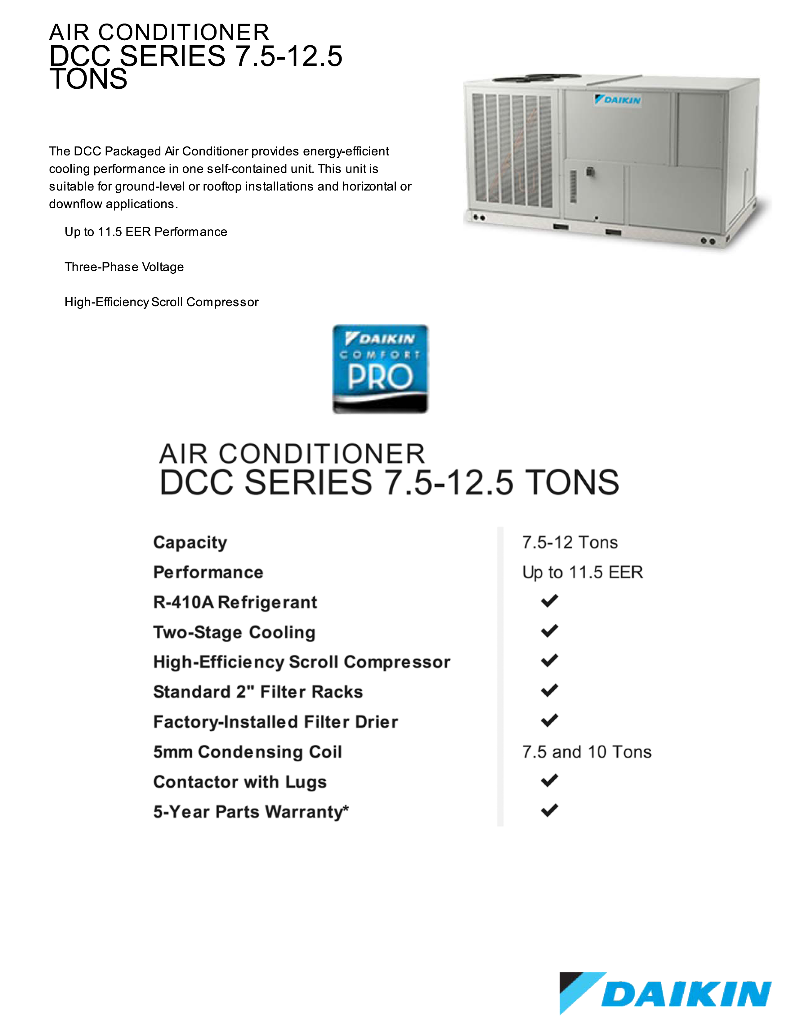 DCC SC PACKAGE 10 ton daikin package unit central air system 208 230v or 460v 3 skm package unit wiring diagram at nearapp.co