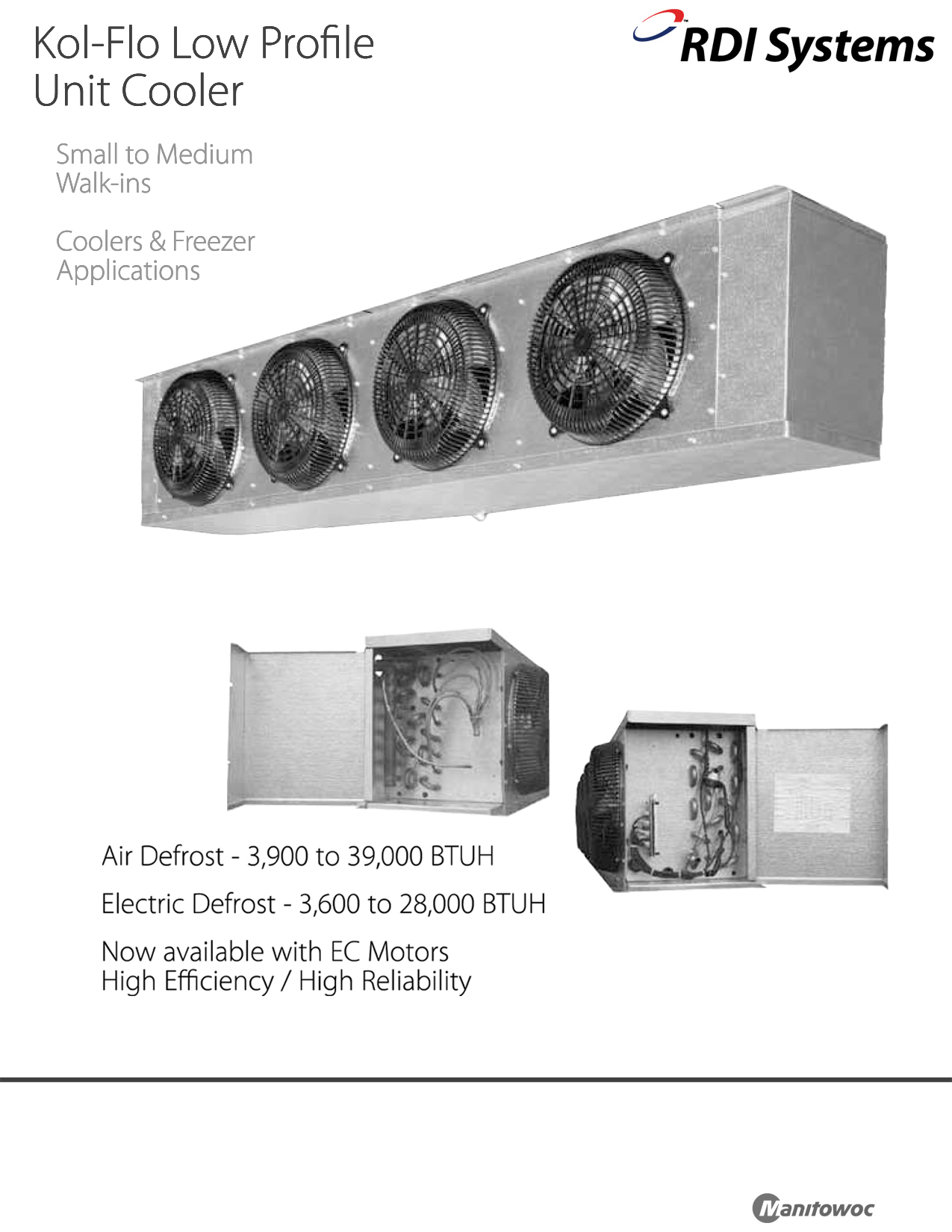 rdi refrigeration systems kol flo low profile cooler unit air cooled rh budgetheating com