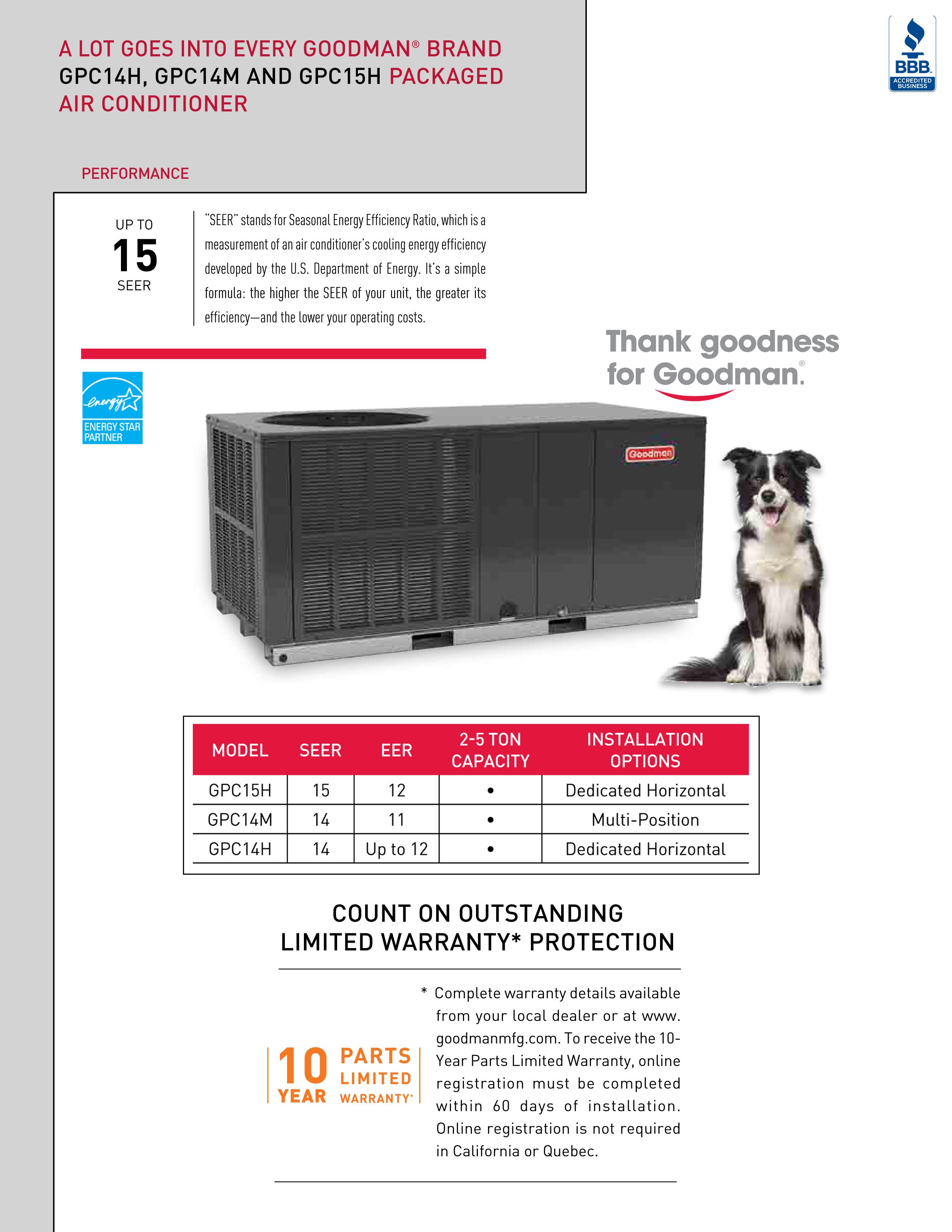 3 5 ton goodman 15 seer package unit gpc1542h41. Black Bedroom Furniture Sets. Home Design Ideas