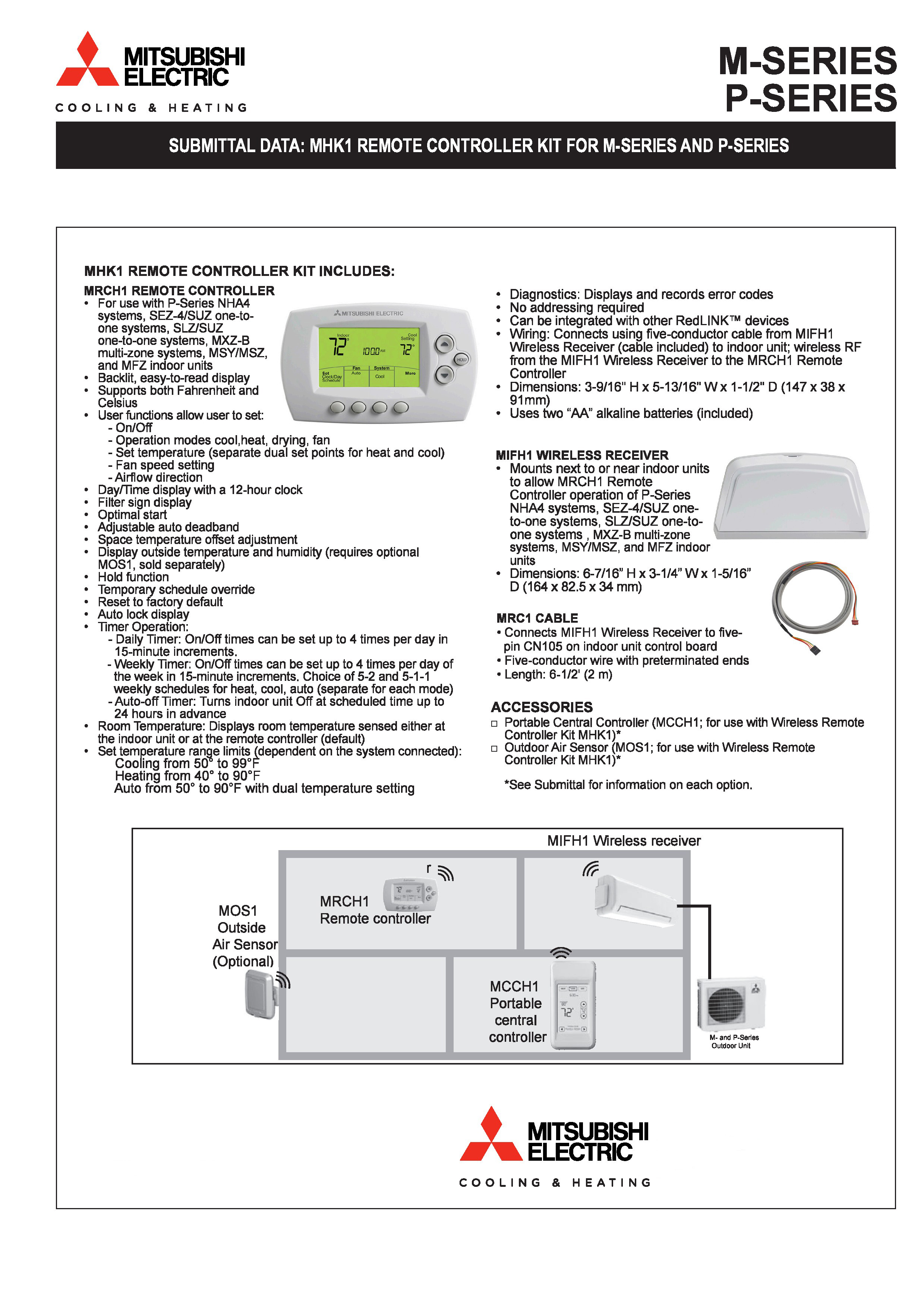 mitsubishi m series wiring diagram mitsubishi mini split mitsubishi wireless wall mounted thermostat mhk1 on mitsubishi m series wiring diagram