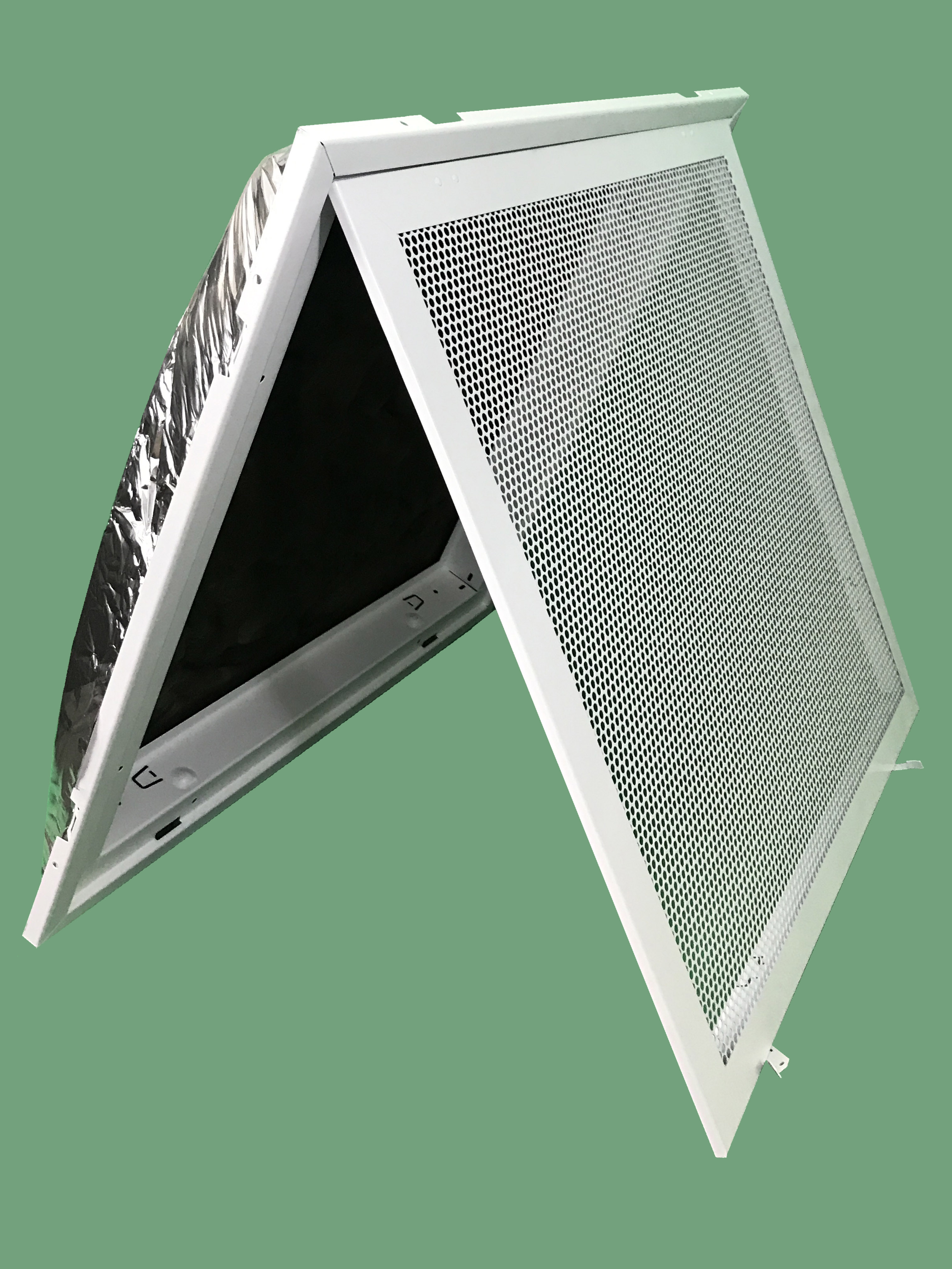 """perforated ceiling t-bar lay in filter back return air grill 24"""" x 24"""""""