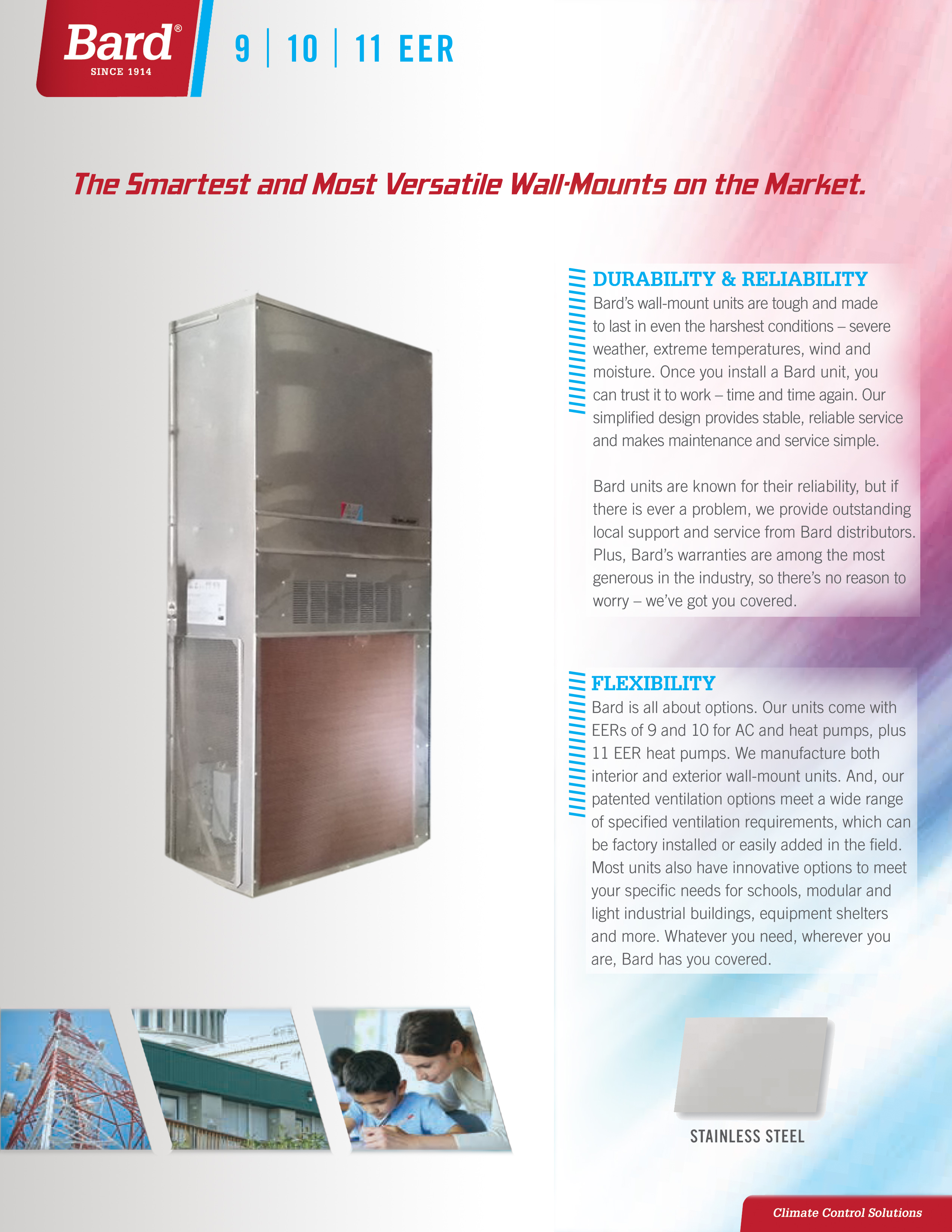 5 Ton Bard Stainless Steel Phenolic Coated Heat Pump Wall Hung Condenser Fan Wiring Diagram Coastal Installs Wastewater Treatment Plants Gas Oil Refineries Battery Manufacturers Areas Near Sulfur Water Wineries Chemical