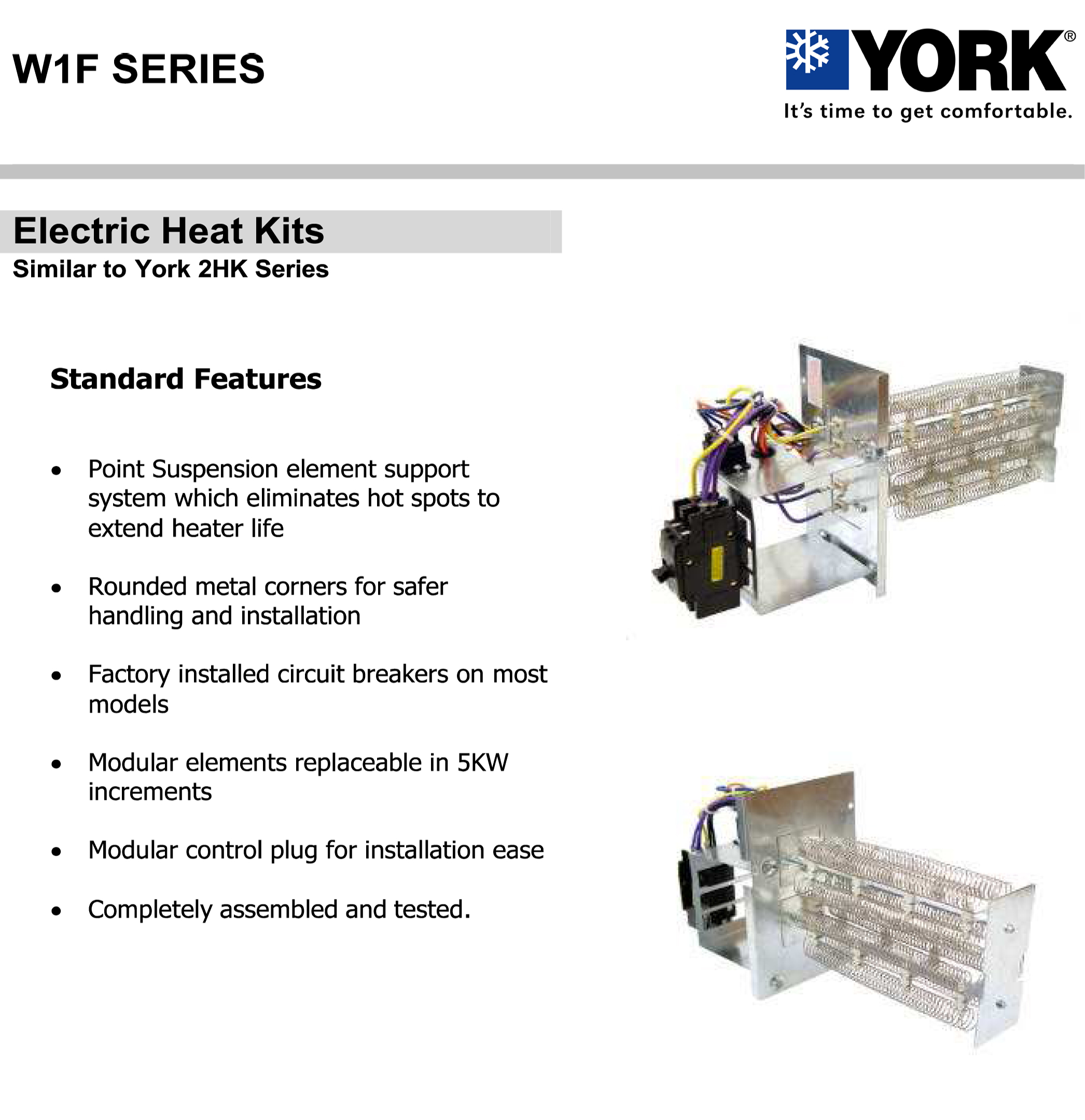 W1F Brochure 10 kw heat strip for york air handlers (click for models) w1f1002 air ease heat pump wiring diagram at fashall.co
