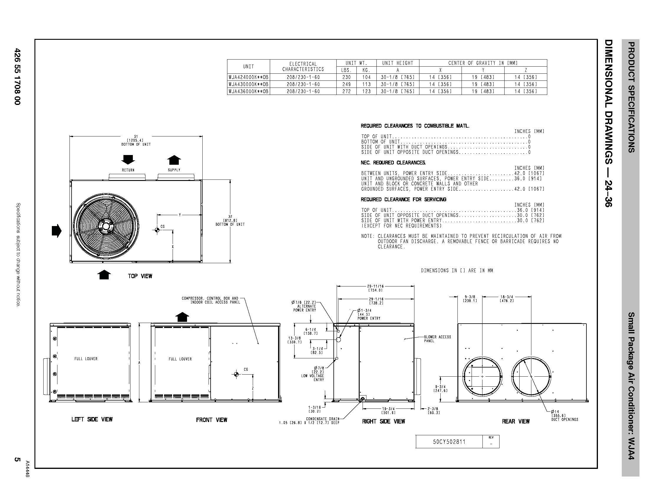 grandaire 3 ton 14 seer package unit wja436000ktp0a rh budgetheating com Nordyne Heat Pump Model Numbers Nordyne Heat Pump Model Numbers