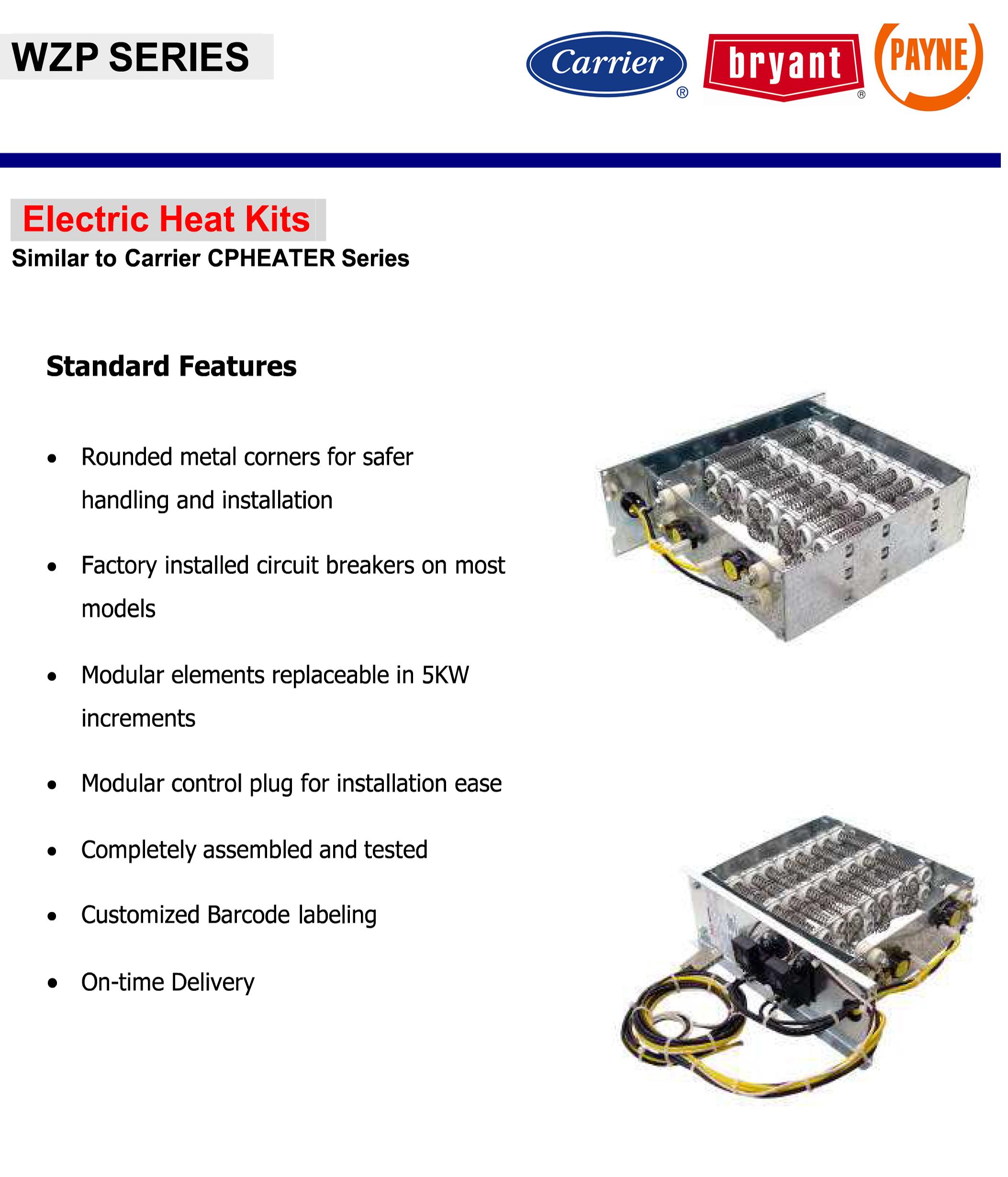 10 Kw Heat Strip For Carrier  Bryant  Payne Package Units 50zp  50zh  Pa1z  Ph1z  564a  664a Wzp1002