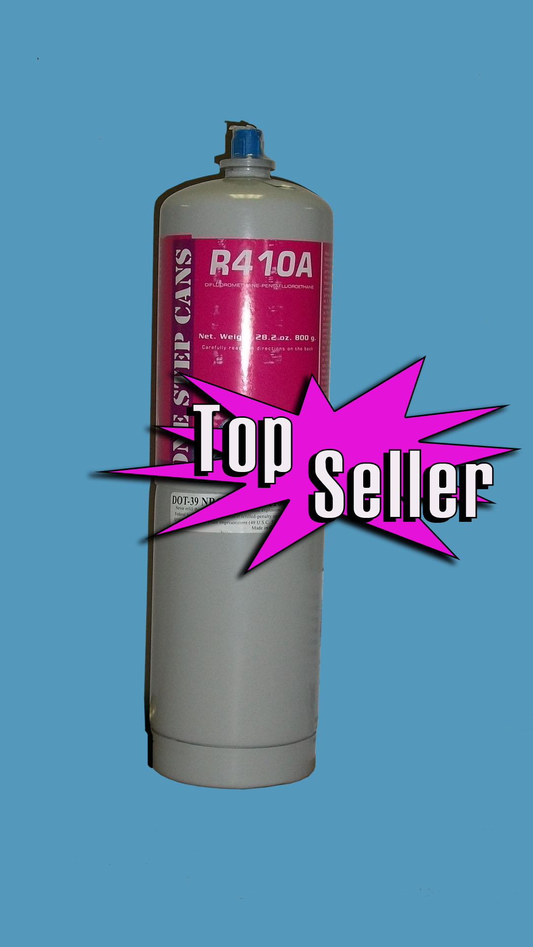 R410a Refrigerant 28oz Disposable One Step Can