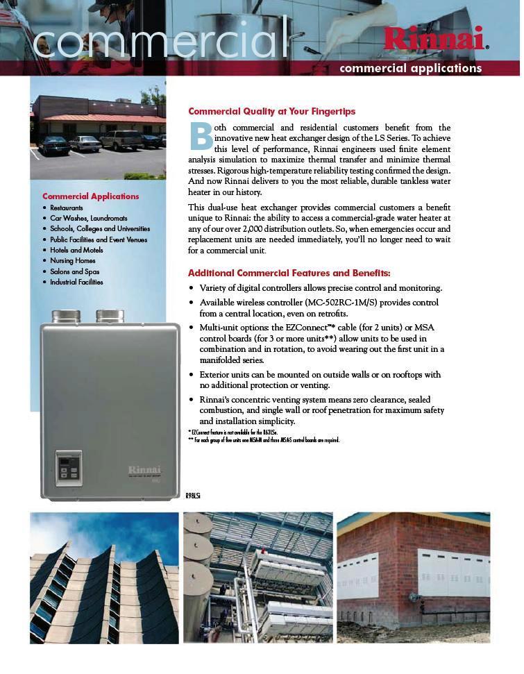 Rinnai Tankless Water Heater R75lse Exterior Natl Gas Ebay