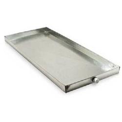 Drain Pan Overflow 28 to 30 x 60 Galvanized Metal